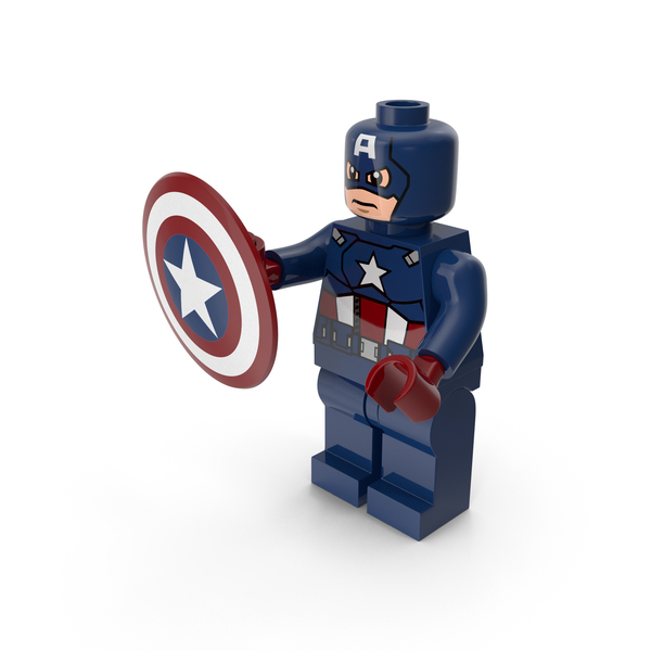 Lego People: Captain America With Shield PNG & PSD Images