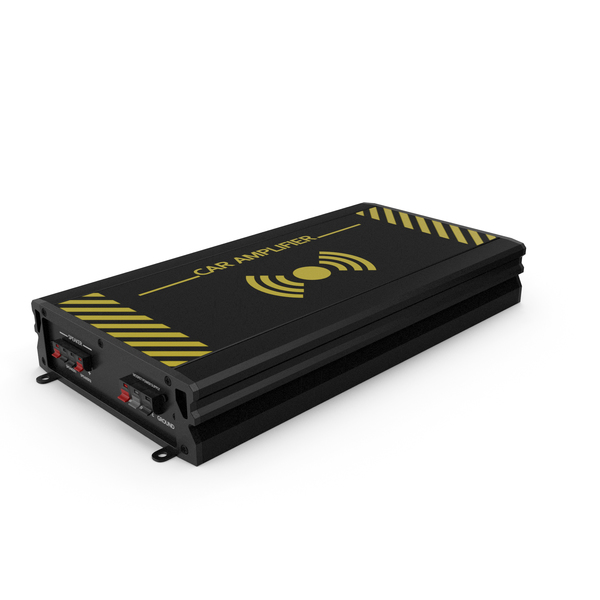 Pre: Car Amplifier Black PNG & PSD Images