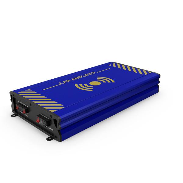 Speaker: Car Amplifier Blue PNG & PSD Images