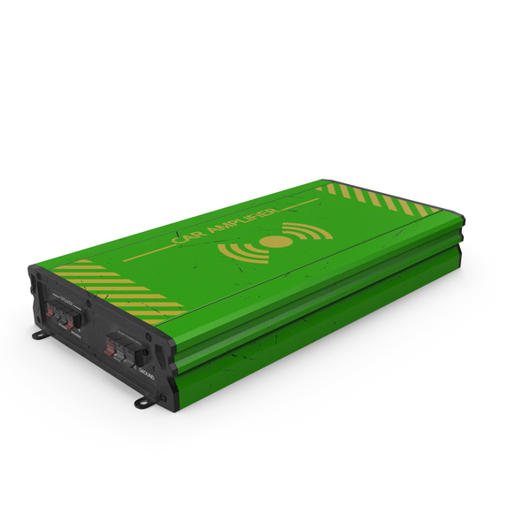 Speaker: Car Amplifier Green Used PNG & PSD Images
