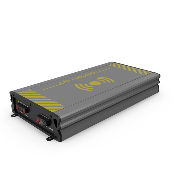 Speaker: Car Amplifier Grey PNG & PSD Images