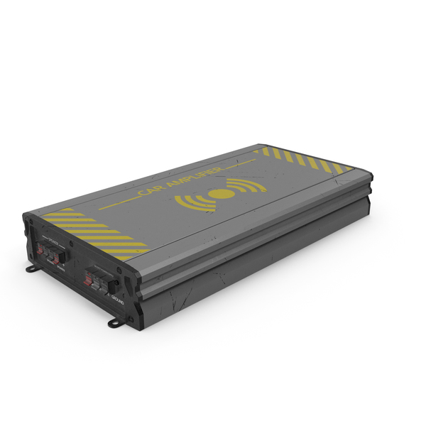 Speaker: Car Amplifier Grey Used PNG & PSD Images