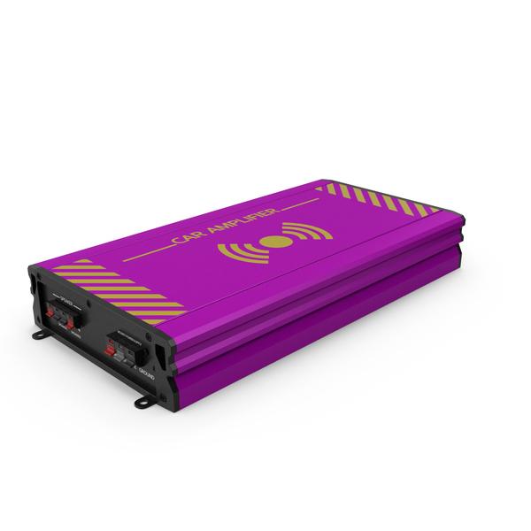 Speaker: Car Amplifier Pink PNG & PSD Images