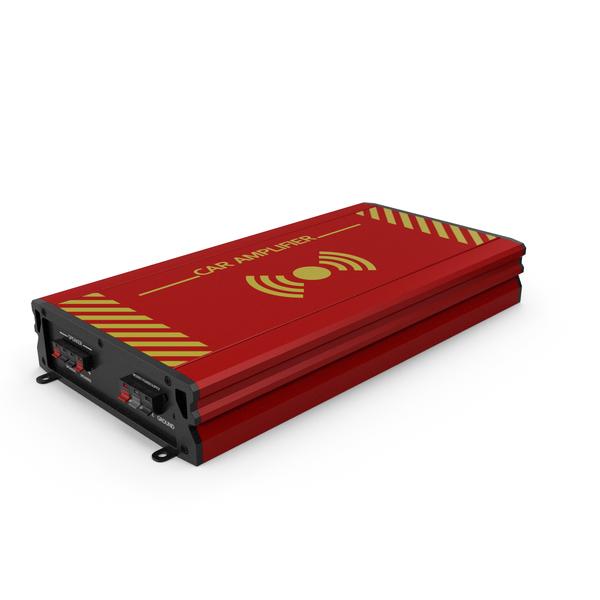 Speaker: Car Amplifier Red PNG & PSD Images
