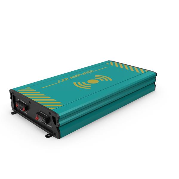 Speaker: Car Amplifier Sky Blue PNG & PSD Images