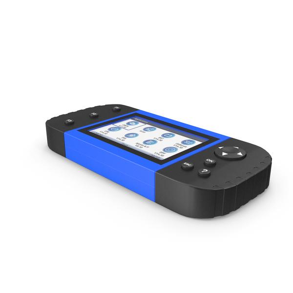 Car Diagnostic Scanner Blue PNG & PSD Images