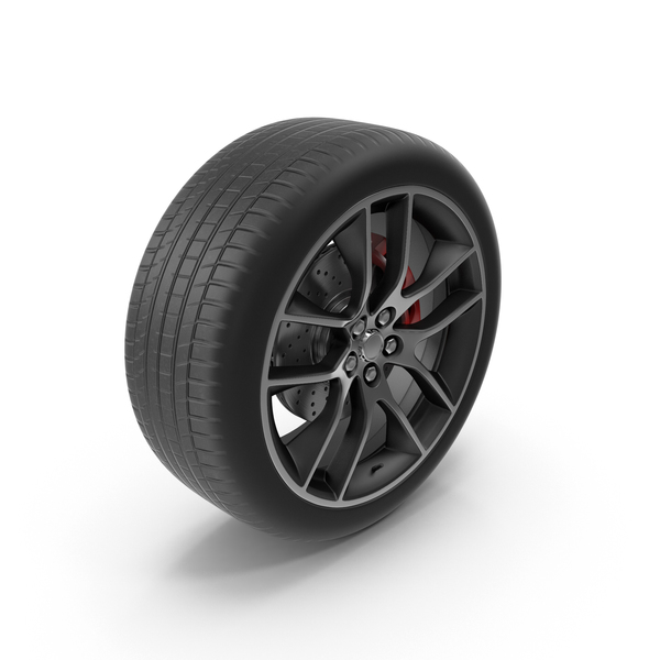 Car Wheel With Rotor PNG & PSD Images