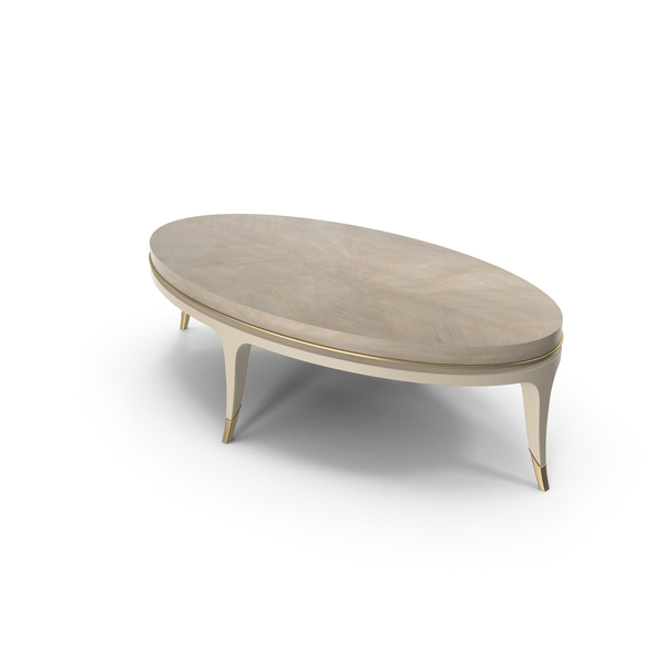 Caracole Front and Center Coffee Table Oval PNG & PSD Images