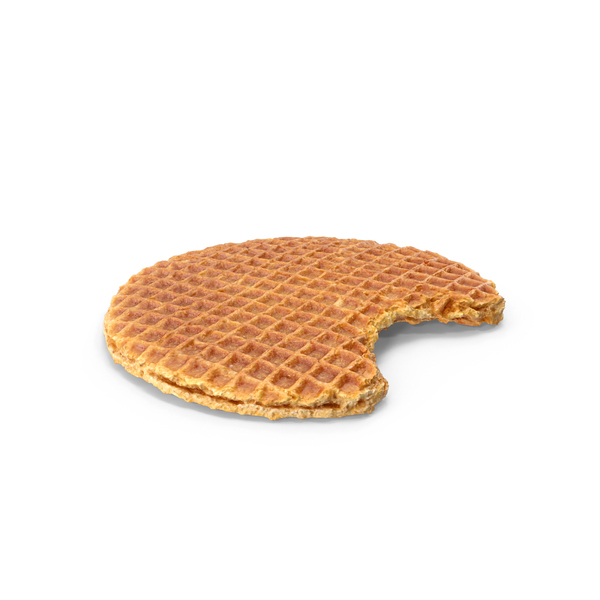 Caramel Waffle Bitten PNG & PSD Images
