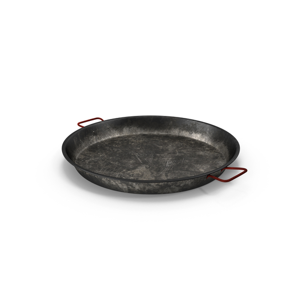 Carbon Steel Paella Pan Aged PNG & PSD Images
