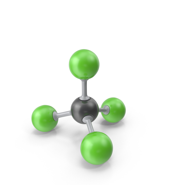 Carbon Tetrachloride Molecule PNG & PSD Images