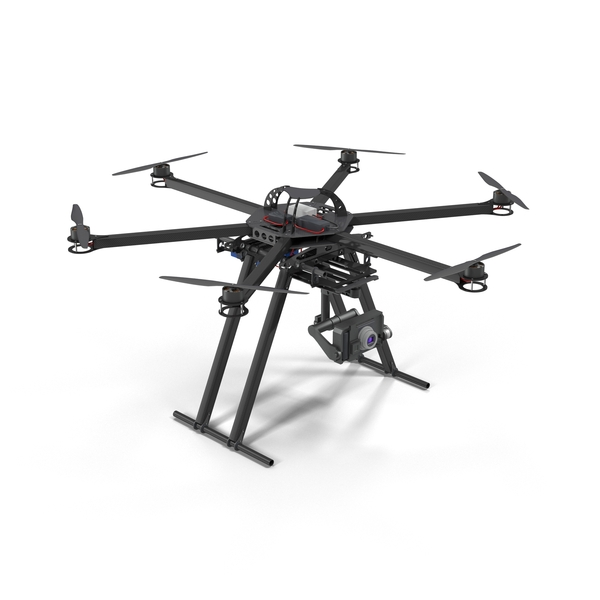 CarbonCore Hexacopter Drone PNG & PSD Images