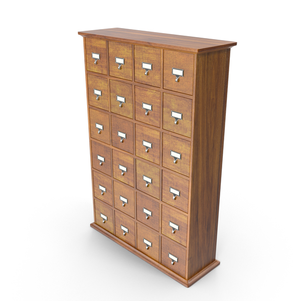 Card Catalog Cabinet Object