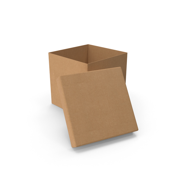 Cardboard Box Cube Open PNG & PSD Images