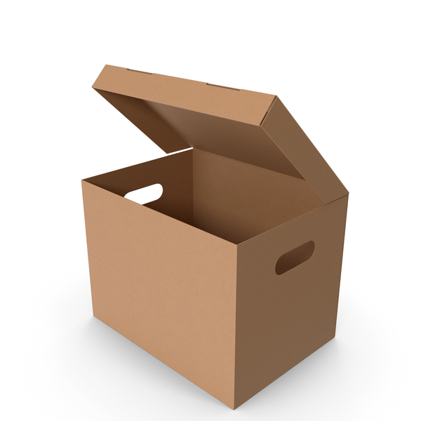Cardboard Box Large Opened PNG & PSD Images