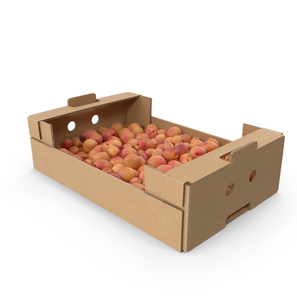 Cardboard Box Of Apricots PNG & PSD Images