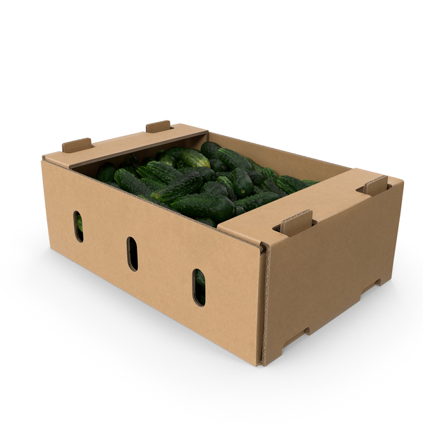Cardboard Box of Kirby Cucumbers PNG & PSD Images