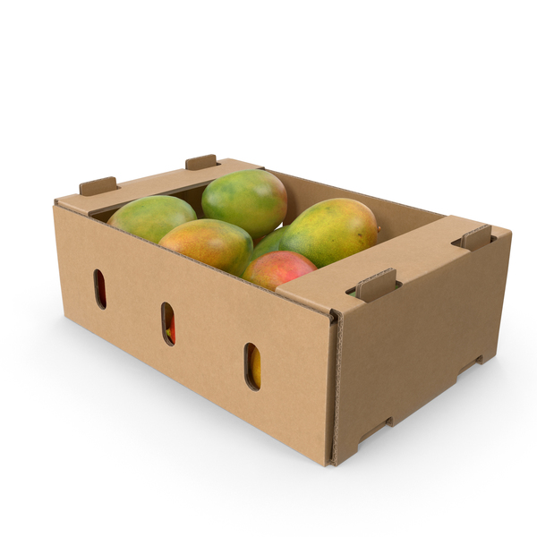 Cardboard Box of Mangos PNG & PSD Images