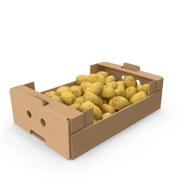 Potato: Cardboard Box of Potatoes PNG & PSD Images
