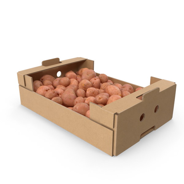 Potato: Cardboard Box Of Red Potatoes PNG & PSD Images
