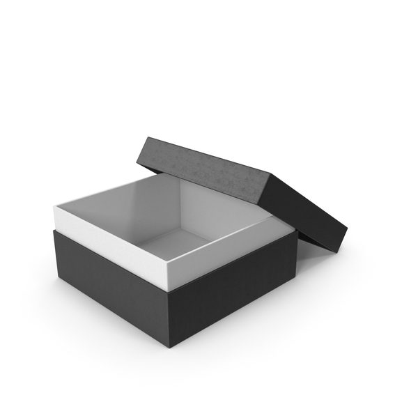 Cardboard Box Opened Black PNG & PSD Images