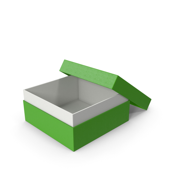 Cardboard Box Opened Green PNG & PSD Images