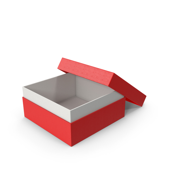 Cardboard Box Opened Red PNG & PSD Images