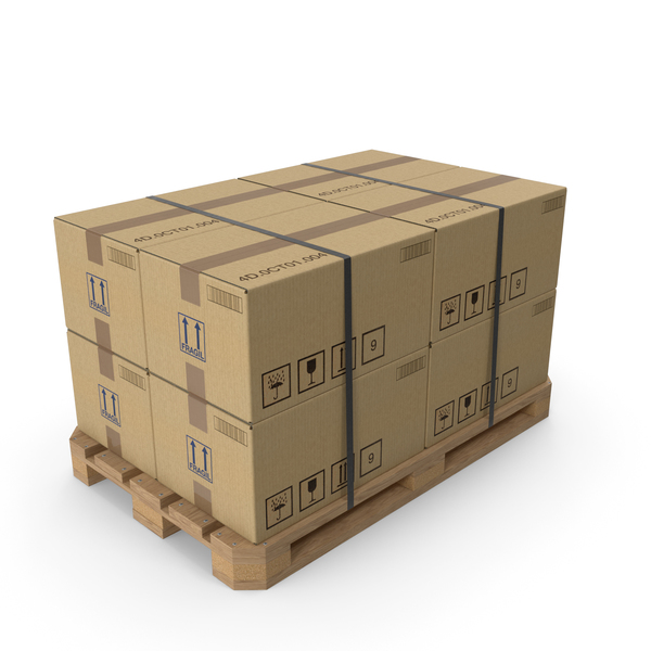 Cardboard Box Pallet PNG & PSD Images