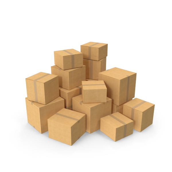 Cardboard Box Stack PNG & PSD Images