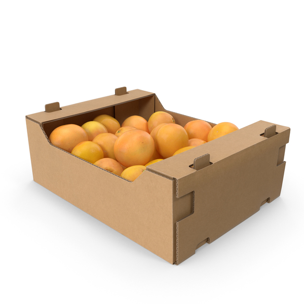 Grapefruit: Cardboard Box With Grapefruits PNG & PSD Images