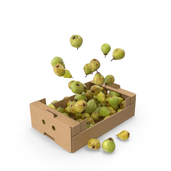 Cardboard Box With Taylors Gold Pear Flying PNG & PSD Images