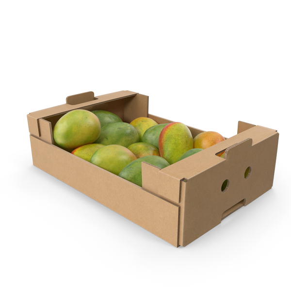 Mango: Cardboard Display Box With Mangos PNG & PSD Images