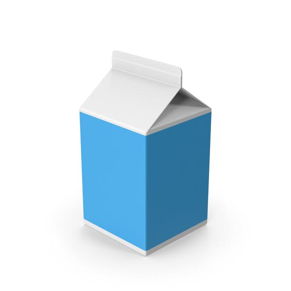 Milk Carton: Cardboard Package Blue Short PNG & PSD Images