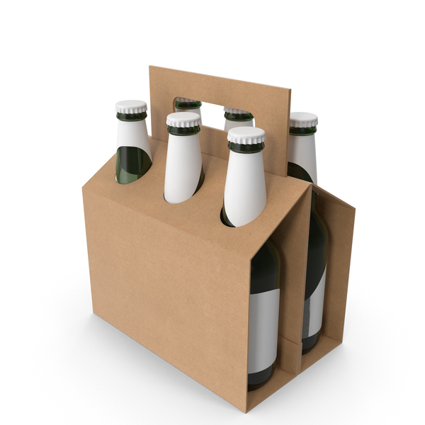 Cardboard Six-Pack Holder PNG & PSD Images