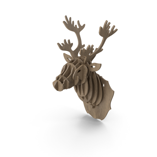Animal Statue: Cardboard Stag Head PNG & PSD Images