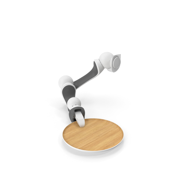 Careobot 4 Arm with Tray PNG & PSD Images