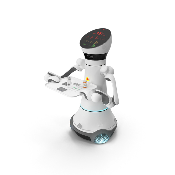 Careobot 4 with Medicine PNG & PSD Images