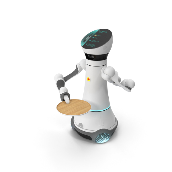 Careobot Service Robot with Empty Tray PNG & PSD Images