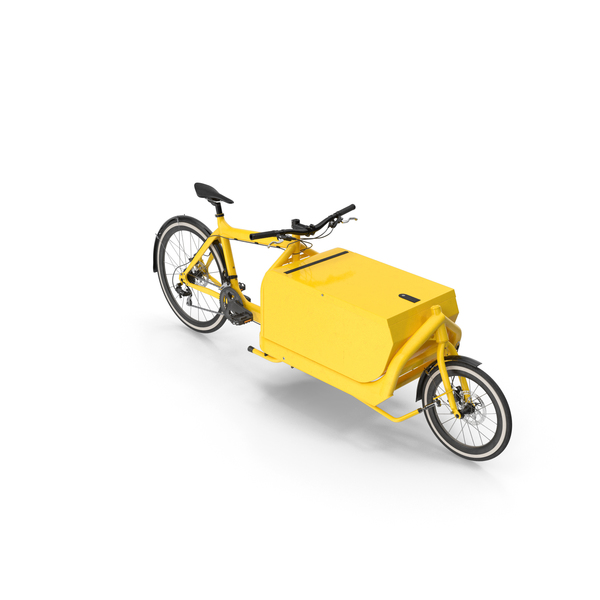 Cargo Bike with Metal Box PNG & PSD Images