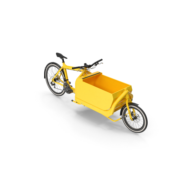 Cargo Bike with Metal Box Opened PNG & PSD Images