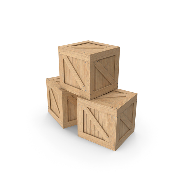 Crate: Cargo Boxes PNG & PSD Images