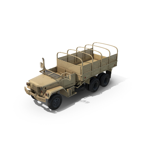 Military Trailer: Cargo Truck M35 Desert PNG & PSD Images