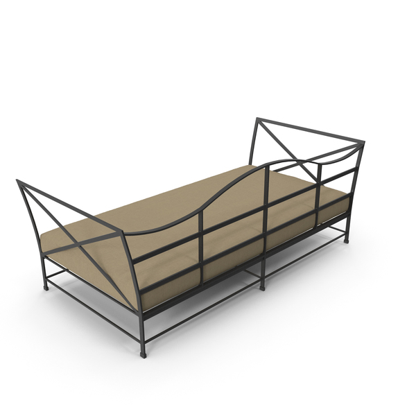 Sofa: Carmel Daybed Painted Metal PNG & PSD Images