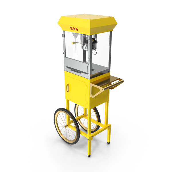 Machine: Carnival Popcorn Popper Cart Generic PNG & PSD Images