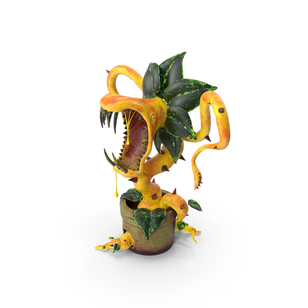 Carnivorous Plant Yellow PNG & PSD Images