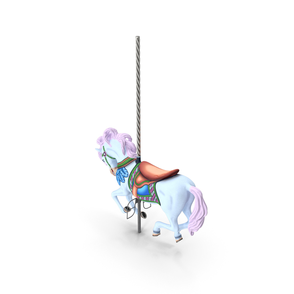 Carousel Galloping Horse Pink PNG & PSD Images