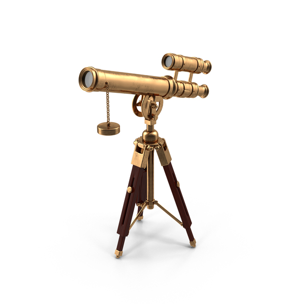 Cartoon Antique Telescope PNG & PSD Images