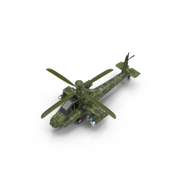 Cartoon Attack Helicopter Object