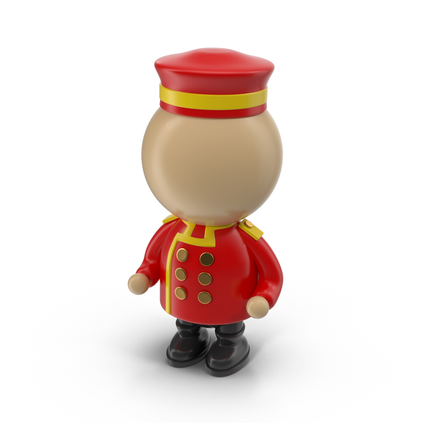 Cartoon Bellhop Character Object