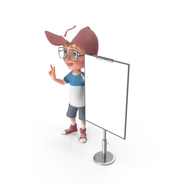 Cartoon Boy At Presentation PNG & PSD Images
